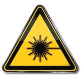Laser de danger illustration stock