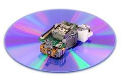 Laser de DVD y disco Foto de archivo libre de regalías