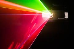 Laser del color en un fondo negro Imágenes de archivo libres de regalías