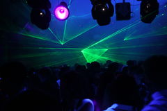 Laser del night-club Fotografie Stock