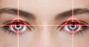 Laser del ojo Imágenes de archivo libres de regalías