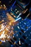 Laser die dicht omhoog snijdt royalty-vrije stock foto's