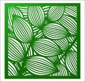 Laser die vierkant paneel snijden Openwork bloemenpatroon met tropica vector illustratie