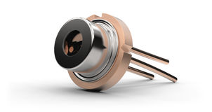 Laser diode. Isolated on white Royalty Free Stock Image