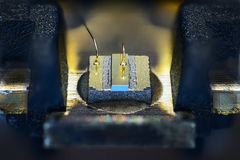 Laser diode, taken from a dvd drive Royalty Free Stock Photos
