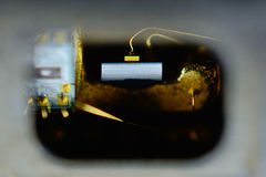 Laser diode, taken from a dvd drive Stock Images