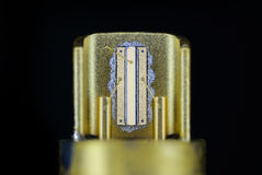 Laser diode, taken from a dvd drive Stock Photography