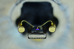 Laser diode, taken from a dvd drive Royalty Free Stock Photo
