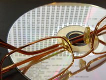 Laser disc with laing glasses Stock Photography