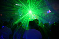 Laser disco. In neon light Stock Photography