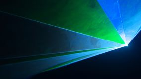 Laser disco green and blue color Royalty Free Stock Photo