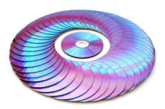 Laser disk. S on a white background Royalty Free Stock Images