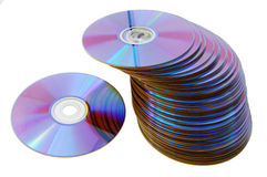 Laser disks. On a white background Stock Images