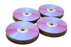 Laser disks. On a white background Stock Photos