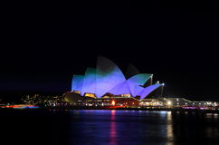 Laser Effects on Opera house 14 Royalty Free Stock Photography