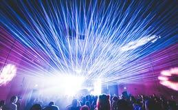Laser an einer Party, Partei, Verein lizenzfreie stockfotografie