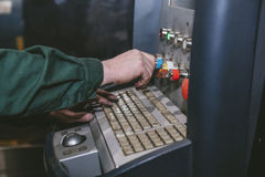 Laser equipment management and plant manufacturing metal structu Royalty Free Stock Image