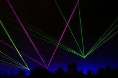 Laser-Erscheinen Stockfotografie