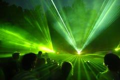 Laser-Erscheinen Stockbild