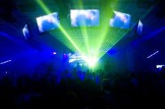 Laser-Erscheinen und Musik lizenzfreies stockfoto