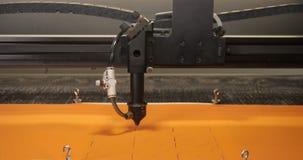 Laser especial que corta la tela almacen de metraje de vídeo
