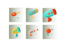 Laser gun icons set Royalty Free Stock Photography