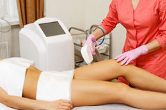 Laser hair removal. Hardware cosmetology. Royalty Free Stock Images