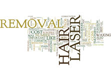 Laser Hair Removal The Pros And Cons Text Background  Word Cloud Concept Stock Photography
