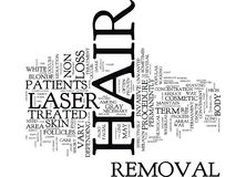 Laser Hair Removal Puts An End To Wax Forever Text Background Word Cloud Concept Royalty Free Stock Photo