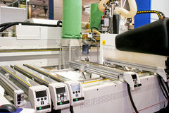 Laser-Holzmaschine Stockbild