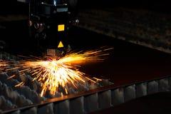 Laser industrial Imágenes de archivo libres de regalías