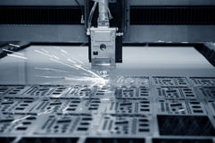 Laser industrial imagem de stock royalty free