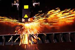 Laser industriel Photographie stock libre de droits