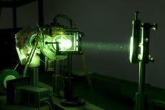 Laser industriel puissant de vert pour la recherche photo libre de droits