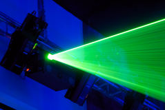 Laser installation. For creation of light effects on musical shows Royalty Free Stock Image
