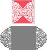 Laser klippte kuvertmallen för inbjudanbröllopkort Royaltyfri Fotografi