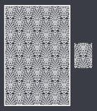 Laser klippte panelen och den sömlösa modellen för dekorativ panel Arkivbilder