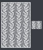 Laser klippte vektorpanelen och den sömlösa modellen för dekorativ panel Royaltyfria Bilder