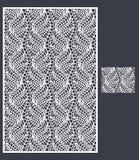 Laser klippte vektorpanelen och den sömlösa modellen för dekorativ panel Arkivfoto