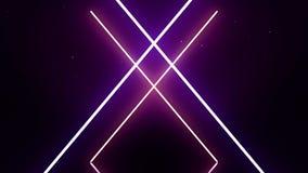 Laser-Kreuz mit synchroner Bewegung von Linien Lichteffekt des Aufflackerns lizenzfreie abbildung