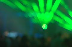 Laser-lampa på diskot Arkivbild