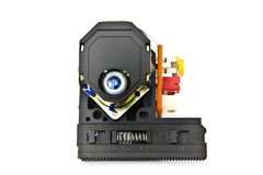 Laser and lens assemblage of a cd player Stock Images