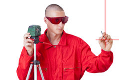 Laser level Stock Images
