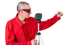 Laser level Royalty Free Stock Photo