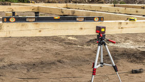 Laser level measurement tool Royalty Free Stock Photos