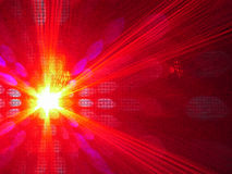 Laser light. Red laser pointer royalty free stock photo