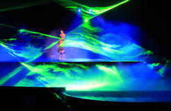 A laser light effect in a performance Stock Photo