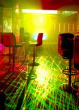 Laser in a nightclub. Laser and light in a nightclub Royalty Free Stock Photography