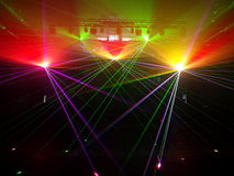 Laser light in the old power station. Stock Images