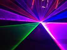 Laser light show Stock Photo